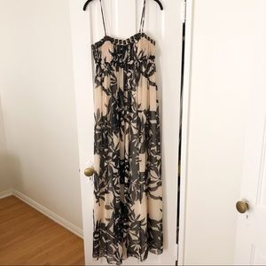 BGBG Black and White Floral Gown Sz 4